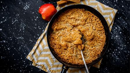 glutenfri smulpaj med äpplen