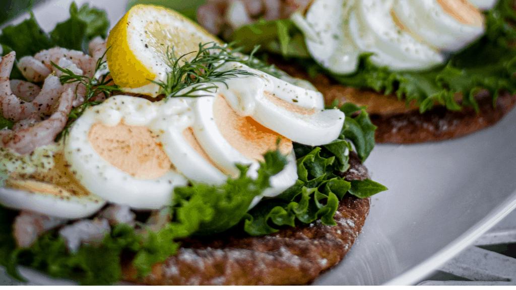 glutenfri räksmörgås